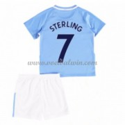 Manchester City Voetbaltenue Kind 2017-18 Raheem Sterling 7 Thuisshirt..