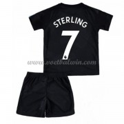 Manchester City Voetbaltenue Kind 2017-18 Raheem Sterling 7 Third Shirt..