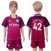 Manchester City Voetbaltenue Kind 2017-18 Toure Yaya 42 Uitshirt..