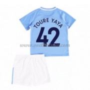 Manchester City Voetbaltenue Kind 2017-18 Toure Yaya 42 Thuisshirt..