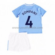 Manchester City Voetbaltenue Kind 2017-18 Vincent Kompany 4 Thuisshirt..