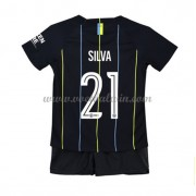 Manchester City Voetbaltenue Kind 2018-19 David Silva 21 Uitshirt..