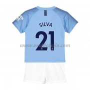 Manchester City Voetbaltenue Kind 2018-19 David Silva 21 Thuisshirt..