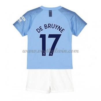 Manchester City Voetbaltenue Kind 2018-19 De Bruyne 17 Thuisshirt