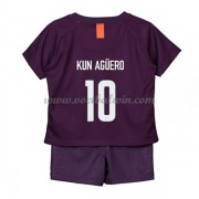 Manchester City Voetbaltenue Kind 2018-19 Kun Aguero 10 Third Shirt..