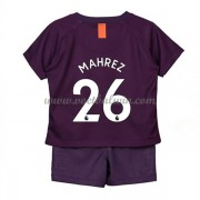 Manchester City Voetbaltenue Kind 2018-19 Mahrez 26 Third Shirt..