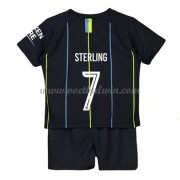 Manchester City Voetbaltenue Kind 2018-19 Raheem Sterling 7 Uitshirt..