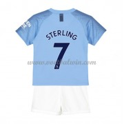 Manchester City Voetbaltenue Kind 2018-19 Raheem Sterling 7 Thuisshirt..