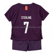 Manchester City Voetbaltenue Kind 2018-19 Raheem Sterling 7 Third Shirt..