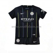 Manchester City Voetbaltenue Kind 2018-19 Uitshirt..