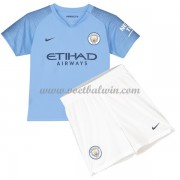 Manchester City Voetbaltenue Kind 2018-19 Thuisshirt..