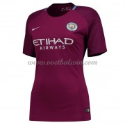 Manchester City Dames Voetbalshirts 2017-18 Uitshirt..