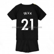 Manchester City Voetbaltenue Kind 2019-20 David Silva 21 Uitshirt..