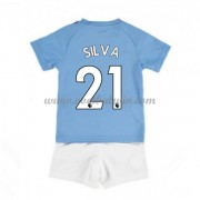 Manchester City Voetbaltenue Kind 2019-20 David Silva 21 Thuisshirt..
