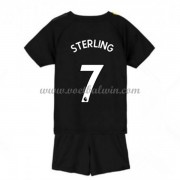 Manchester City Voetbaltenue Kind 2019-20 Raheem Sterling 7 Uitshirt..