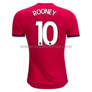 Premier League Voetbalshirts Manchester United 2017-18 Wayne Rooney 10 Thuisshirt..