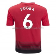 Premier League Voetbalshirts Manchester United 2018-19 Paul Pogba 6 Thuisshirt..
