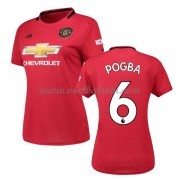 Manchester United Dames Voetbalshirts 2019-20 Paul Pogba 6 Thuisshirt..