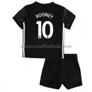 Manchester United Voetbaltenue Kind 2017-18 Wayne Rooney 10 Uitshirt..