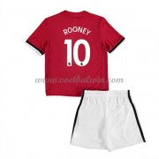 Manchester United Voetbaltenue Kind 2017-18 Wayne Rooney 10 Thuisshirt..