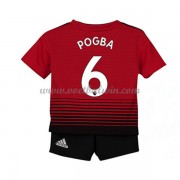Manchester United Voetbaltenue Kind 2018-19 Paul Pogba 6 Thuisshirt..
