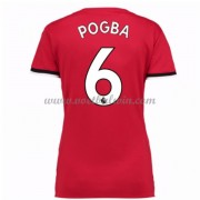 Manchester United Dames Voetbalshirts 2017-18 Paul Pogba 6 Thuisshirt..