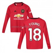 Manchester United Voetbaltenue Kind 2019-20 Ashley Young 18 Thuisshirt Lange Mouw..