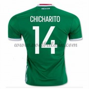 Goedkope Voetbalshirts Mexico Elftal 2016 Chicharito 14 Thuis Tenue..