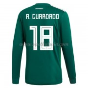 Goedkope Voetbaltenues Mexico Elftal WK 2018 Andres Guardado 18 Thuisshirt Lange Mouw..