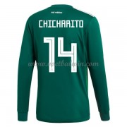 Goedkope Voetbaltenues Mexico Elftal WK 2018 Chicharito 14 Thuisshirt Lange Mouw..