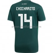 Goedkope Voetbaltenues Mexico Elftal WK 2018 Chicharito 14 Thuisshirt..