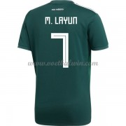 Goedkope Voetbaltenues Mexico Elftal WK 2018 Miguel Layun 7 Thuisshirt..