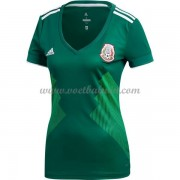 Mexico Elftal Dames Voetbalshirts World Cup 2018 Thuisshirt..