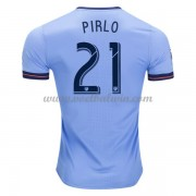 Clubs Voetbalshirts New York City 2017-18 Andrea Pirlo 21 Thuisshirt..