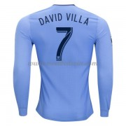 Clubs Voetbalshirts New York City 2017-18 David Villa 7 Thuisshirt Lange Mouw..