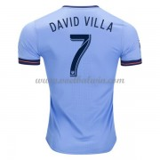 Clubs Voetbalshirts New York City 2017-18 David Villa 7 Thuisshirt..