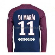 Ligue 1 Paris Saint Germain PSG 2017-18 Di Maria 11 Thuisshirt Lange Mouw..