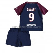 Paris Saint Germain PSG Voetbaltenue Kind 2017-18 Edinson Cavani 9 Thuisshirt..