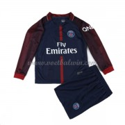 Paris Saint Germain PSG Voetbaltenue Kind 2017-18 Thuisshirt Lange Mouw..