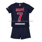 Paris Saint Germain PSG Voetbaltenue Kind 2018-19 Kylian Mbappé 7 Thuisshirt