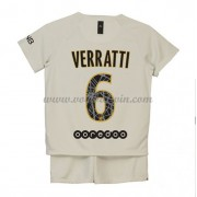 Paris Saint Germain PSG Voetbaltenue Kind 2018-19 Marco Verratti 6 Uitshirt..