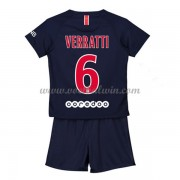 Paris Saint Germain PSG Voetbaltenue Kind 2018-19 Marco Verratti 6 Thuisshirt..