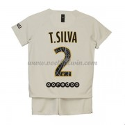 Paris Saint Germain PSG Voetbaltenue Kind 2018-19 T. Silva 2 Uitshirt..