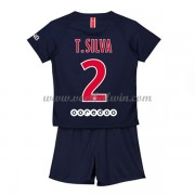 Paris Saint Germain PSG Voetbaltenue Kind 2018-19 T. Silva 2 Thuisshirt..