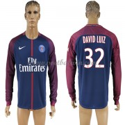 Ligue 1 Paris Saint Germain Psg 2017-18 David Luiz 32 Thuisshirt Lange Mouw..