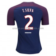 Ligue 1 Paris Saint Germain Psg 2017-18 Thiago Silva 2 Thuisshirt..