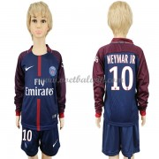 Paris Saint Germain Psg Voetbaltenue Kind 2017-18 Neymar Jr 10 Thuisshirt Lange Mouw..