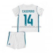 Real Madrid Voetbaltenue Kind 2017-18 Casemiro 14 Thuisshirt..