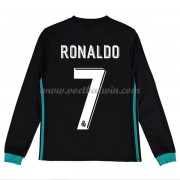 Real Madrid Voetbaltenue Kind 2017-18 Cristiano Ronaldo 7 Uitshirt Lange Mouw..