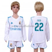 Real Madrid Voetbaltenue Kind 2017-18 Isco 22 Thuisshirt Lange Mouw..